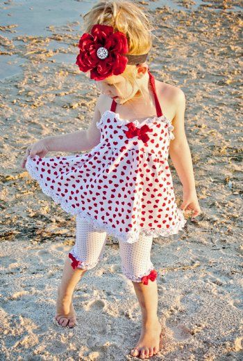 4th of JulyLittle Girls, Polka Dots, Flower Headbands, Day Outfit, Canada Day, Dresses, 4Th Of July, Cute Outfit, Girls Outfit