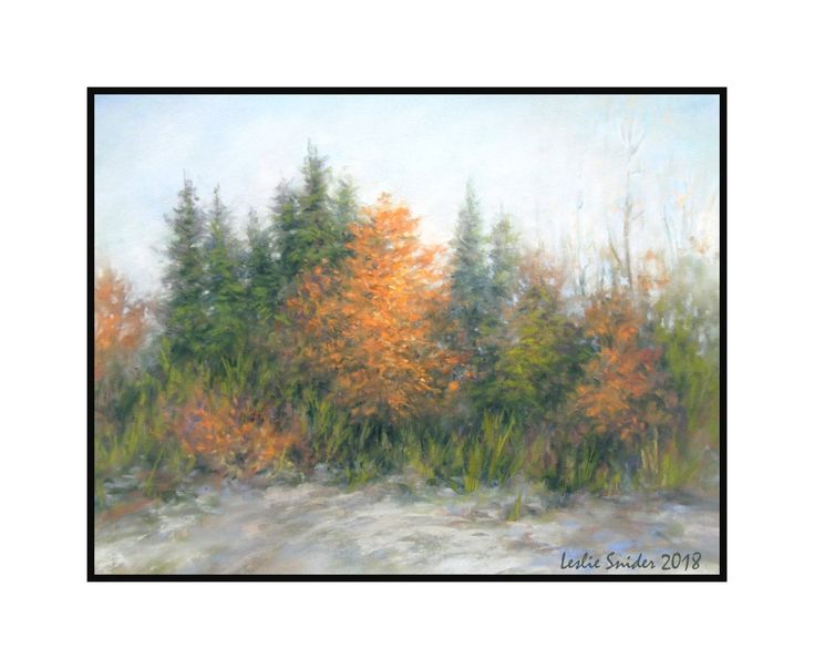"Breaking the Rules....quietly...gently.... Pastel - Leslie Snider..... ""Don't paint every leaf on the tree""...why not?"