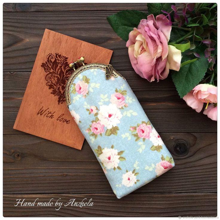 """Купить Очечник """"Нежность"""" - комбинированный, Очечник, очечник в подарок, очечник из ткани, аксессуары, Аксессуары handmade"""