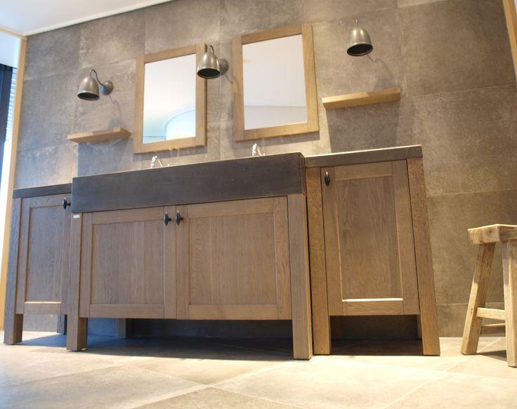 Groot of klein een maatwerk badkamermeubel kan je prima aan ons overlaten we adviseren je - Kleur en materialen ...