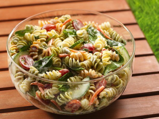 Ranch Spinach Pasta Salad. I like the vegetables in it...Nice fresh summer
