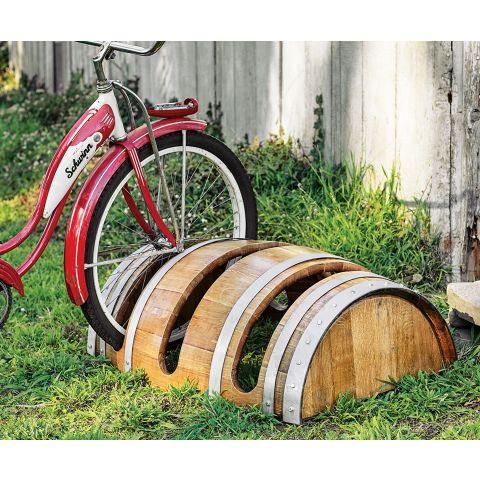 Reclaimed Barrel Bike Rack