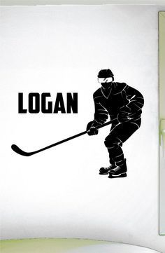 Custom Boys Name Hockey Decal -0436- Personalized Boys Hockey Wall Decal - Hockey Theme Wall Decal - Sports Decal - Ice Hockey - Rink