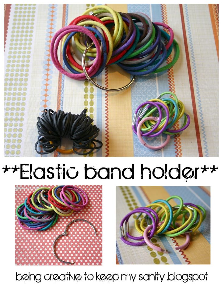 Binder ring to organize elastic hair bands - genius!