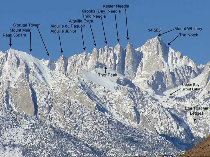 Mount Whitney, CA.  Highest summit in contiguous US.