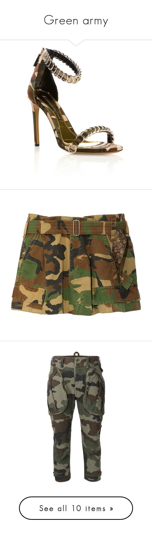 Green army by georginalan on Polyvore featuring polyvore, women's fashion, shoes, sandals, heels, sandales, alexandre vauthier, camouflage footwear, canvas sandals, camo print shoes, zip back sandals, clothing, shorts, bottoms, military green multi, olive shorts, army green cargo shorts, army shorts, camouflage shorts, army green shorts, pants, capris, green, green camo pants, camo trousers, camo pants, camoflage pants, camouflage pants, cropped capri pants, skinny leg cargo pants, cropped…
