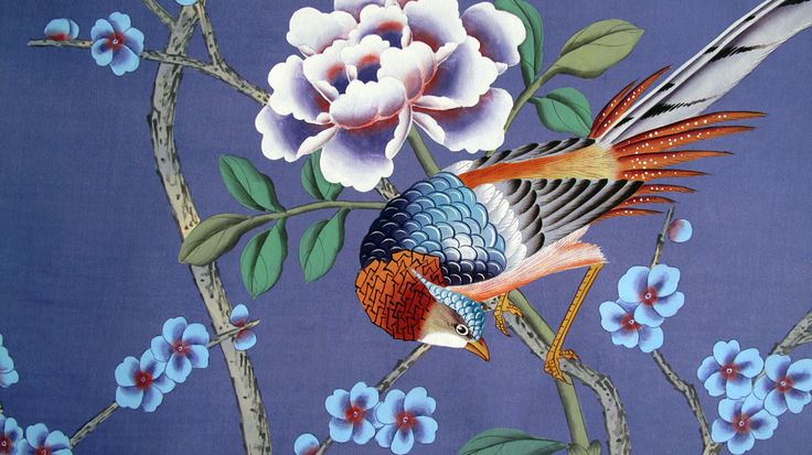 g+w collection :: chinoiserie summer palace, purple
