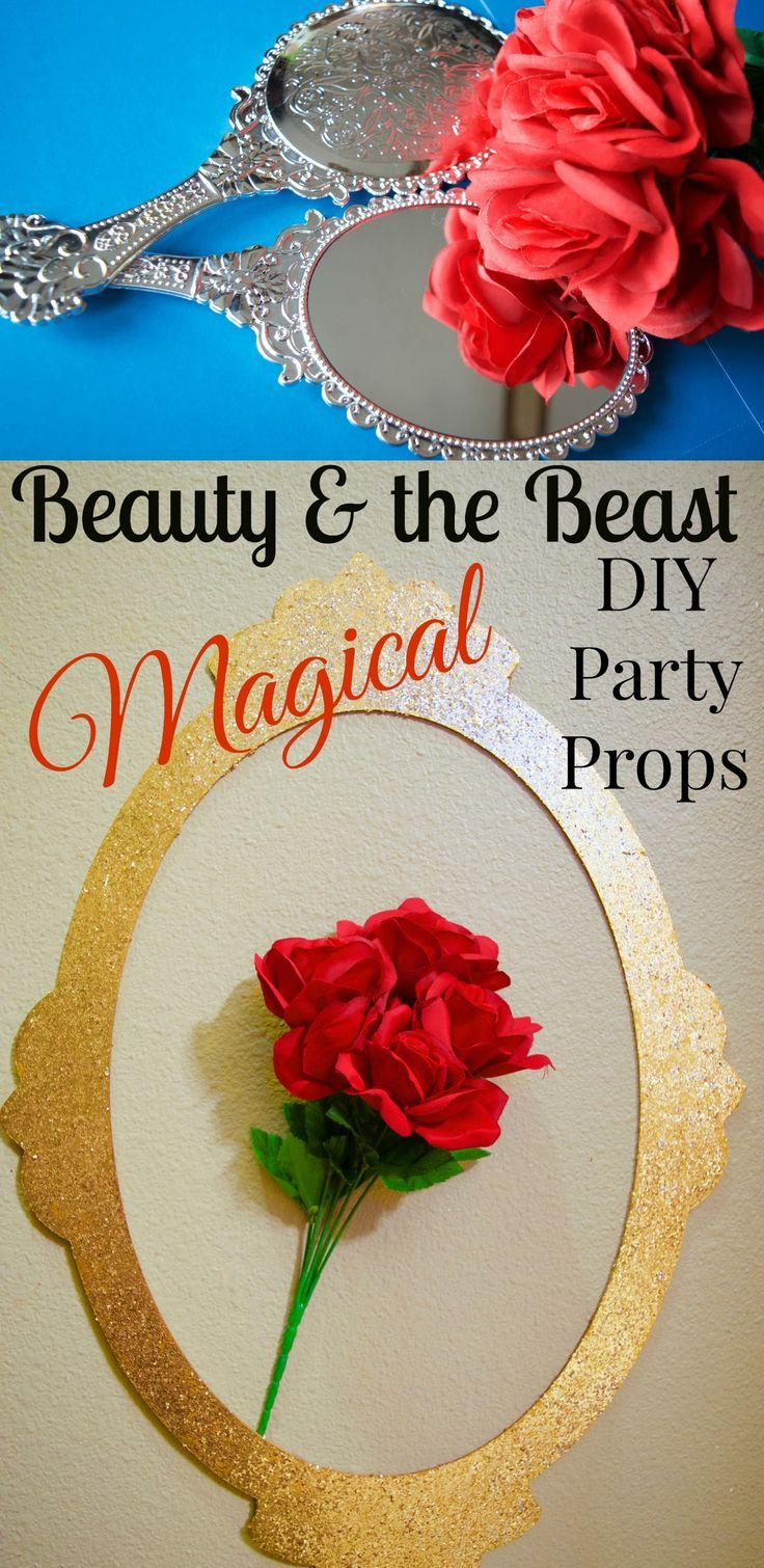 Stunning DIY Beauty & the Beast party props & crafts!! These are AMAZING! Some even come from the dollar store! She has DIY ideas for the rose glass dome cloche, Mrs. Potts, Lumiere, Belle inspired fashion, Beauty & the Beast jewelry, and more!