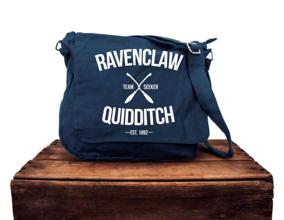 Sac de messager marine de Quidditch de Serdaigle par LucyGooseCo