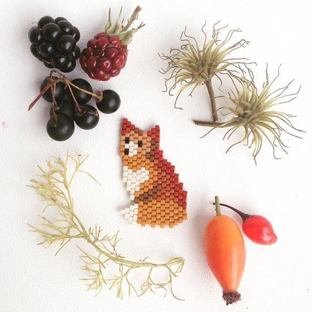Nouveau motif de renard pour annoncer doucement l'automne (oui, je sais c'est ENCORE l'été pour le moment ). Pour ce motif, j'ai tenté un style plus réaliste que mes modèles précédents, en essayant de jouer sur les nuances et les ombres (5 teintes différentes de roux/marron + le blanc nacré). Je pense que je vais m'amuser à tester d'autres combinaisons de couleurs car le motif s'y prête à merveille ! #jenfiledesperlesetjassume #jenfiledesperlesetjaimeca #perlesmiyuki #perlesaddict...