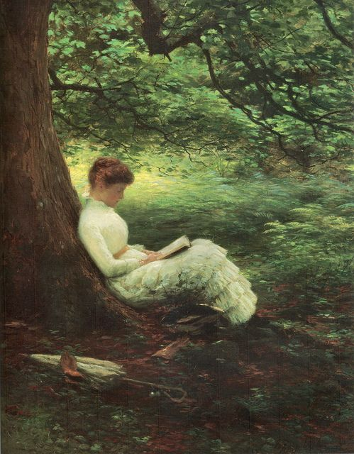 """Summertime"", Joseph Farquharson (Scottish,1846-1935) Art, posters and prints of a woman or women reading repinned by www.AboutHarry.com"