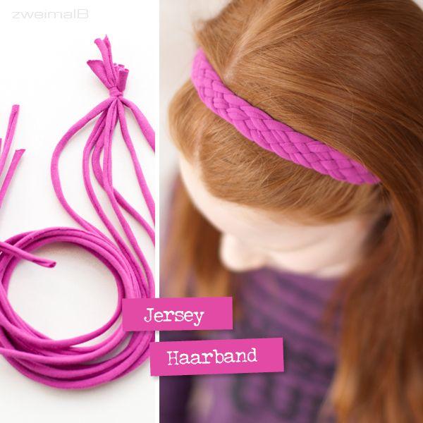 :: zweimalB :: DIY - Anleitung für ein Haarband aus Jersey - easypeasy geflochten und ganz ohne Nähen