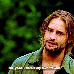 "When he gave the perfect answer to a dumb question John Locke asked. | 19 Times Sawyer From ""Lost"" Made You Fall In Love"