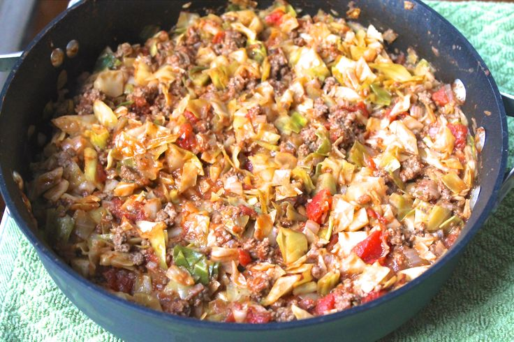 Amish One Pot Ground Beef and Cabbage Skillet