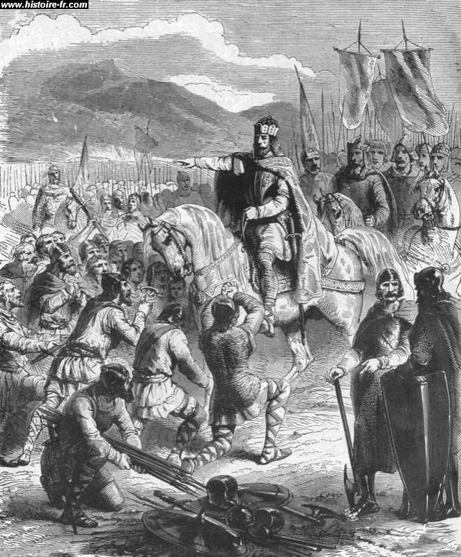 3 Soumissions En Patio Ou Balcon: La Soumission Des Saxons, Par Paul Lehugeur, 19°s- CHARLE