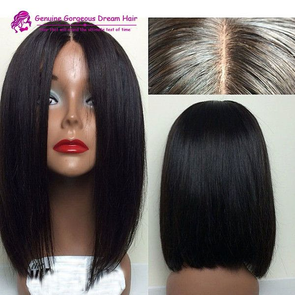 bob style human hair wigs 1000 ideas about middle part bob on middle 2647