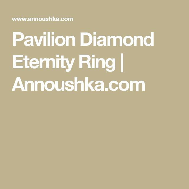 Pavilion Diamond Eternity Ring | Annoushka.com