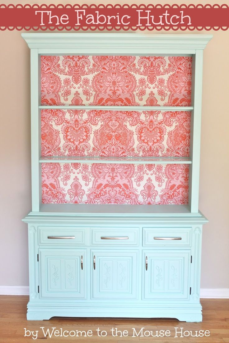 How to Create Fabric Wallpaper | So You Think You're CraftySo You Think You're Crafty
