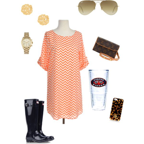 """Auburn game day"" by mrsmonogrammedbelle on Polyvore"