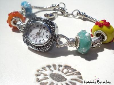 Reloj Floreado