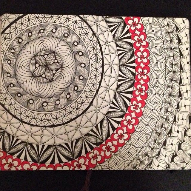 I LOVE this! I used to do these kind of patterns on everything, its very mediative... I should start doing it again <3