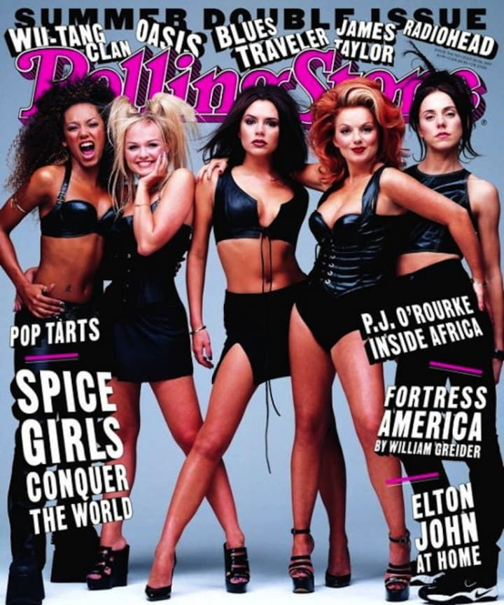 The ages of the Spice Girls when they shot this cover: Scary (22), Baby (21), Posh (22), Ginger (24), and Sporty (23).