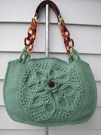 crochet tote bag purse
