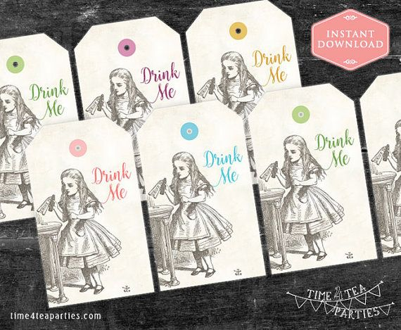 Alice in Wonderland Tea Party Bag Favour Swing by Time4TeaParties