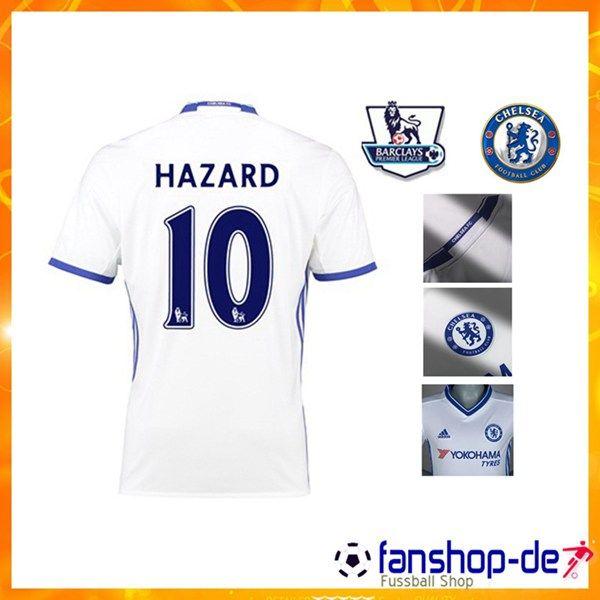New FC Chelsea HAZARD 10 Third Trikot Weiß 2016 2017 Fanshop Kaufen