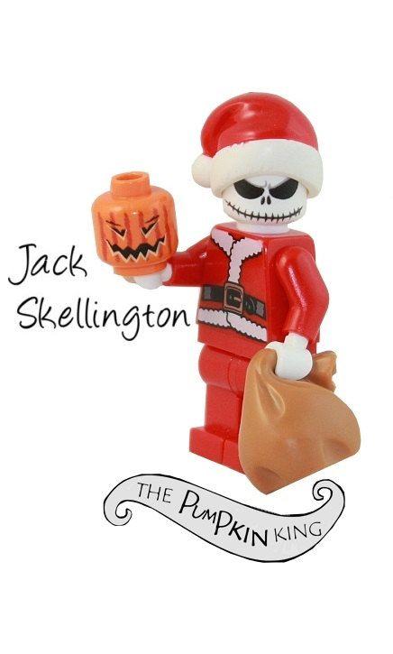 JACK SKELLINGTON Nightmare Before Christmas custom by SimplyBricks