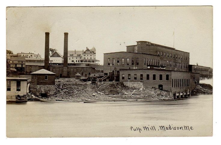 MADISON MAINE 1905  PULP MILL