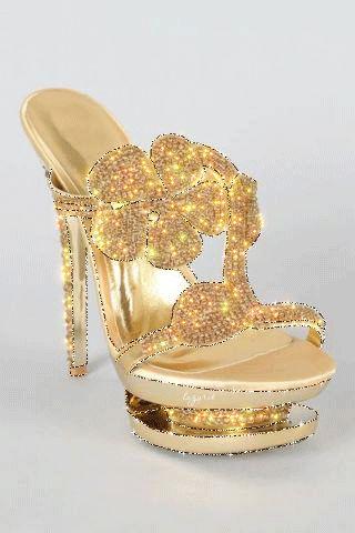 Gold Sparkle Shoe