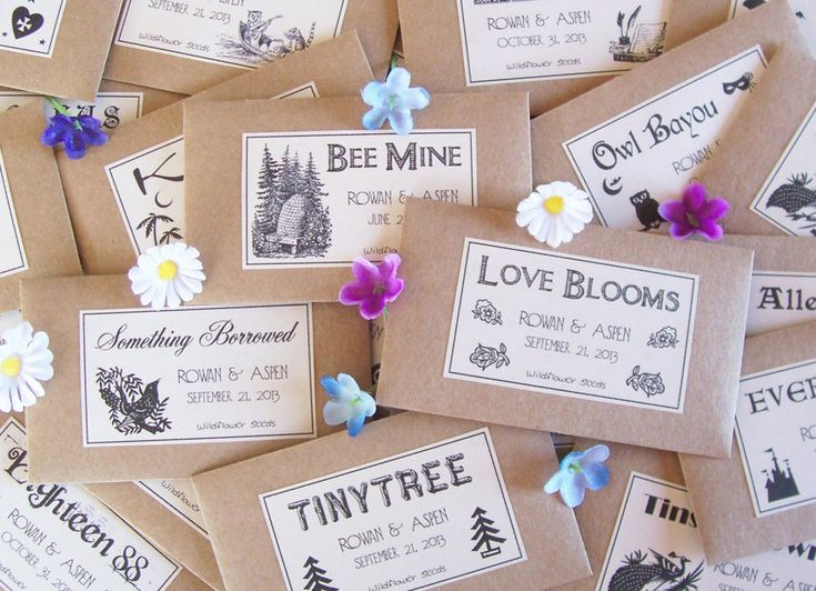 Many people give out seeds as wedding favors ($150 for 100 packets) because not only are they affordable, b...