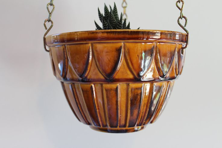 A Vintage Maddux of California Pottery Hanging Planter by Dearhunting on Etsy