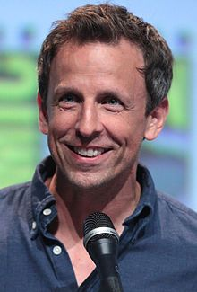 Seth Adam Meyers (born December 28, 1973) Illinois and Bedford NH is an American comedian, writer, producer, television host, actor, and voice actor.