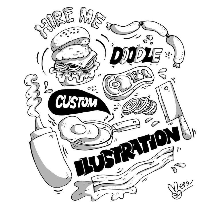 Custom Digital Doodle Illustration/Pattern by veee4victory on Etsy