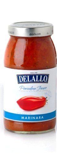 Delallo Pomodoro Fresco Marinara Sauce, 25.25-Ounce Bottle (Pack of 6)