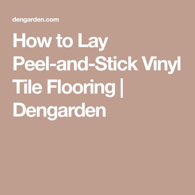 How To Lay Vinyl Flooring In Bathroom: Best 25+ Vinyl Tile Flooring Ideas On Pinterest