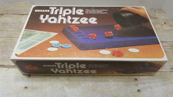 Deluxe Triple Yahtzee 1978 vintage game by RandomGoodsBookRoom