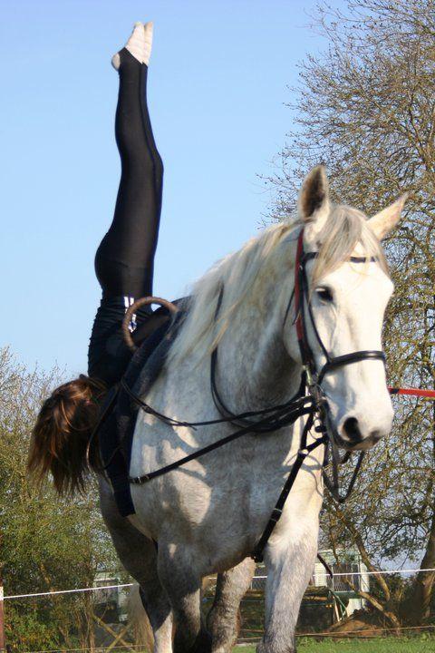 equestrian vaulting   Training - Lincolnshire Equestrian Vaulting Team. AMAZING!!