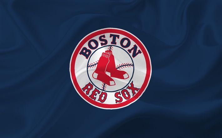 壁紙をダウンロードする ボストンのRed Sox, 野球, 米国, 野球チーム, MLB, マサチューセッツ, エンブレム, ロゴ, メジャーリーグベースボール