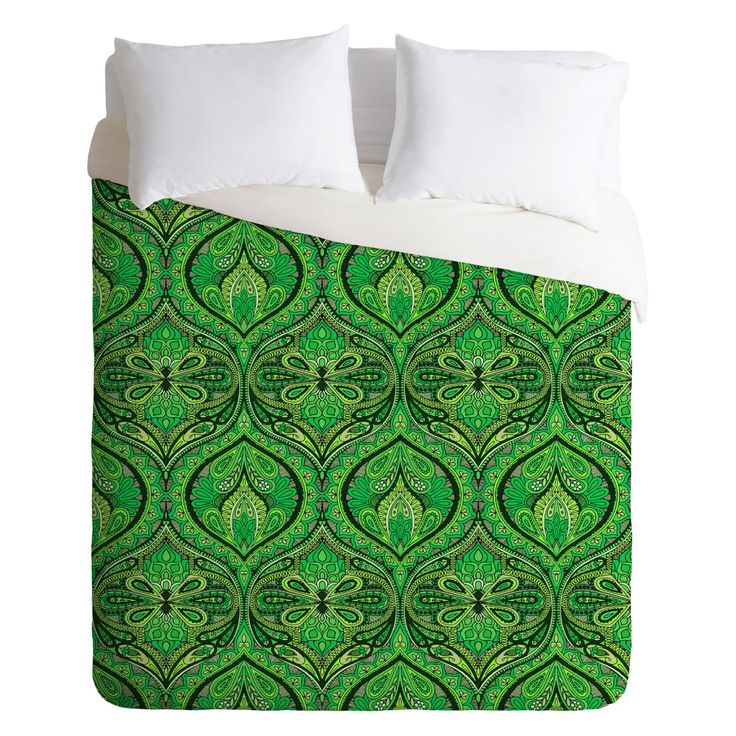 Aimee St Hill Ogee Green Duvet Cover by DENY Designs - 16318-DLIKIN