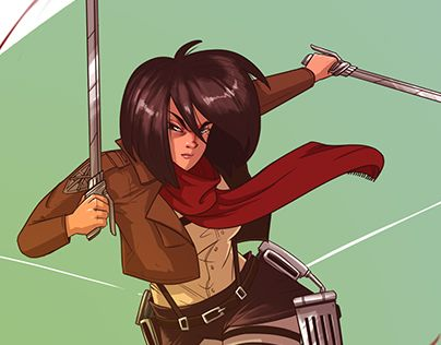 "Check out new work on my @Behance portfolio: ""Mikasa Ackerman / Attack on Titan"" http://be.net/gallery/33676704/Mikasa-Ackerman-Attack-on-Titan"