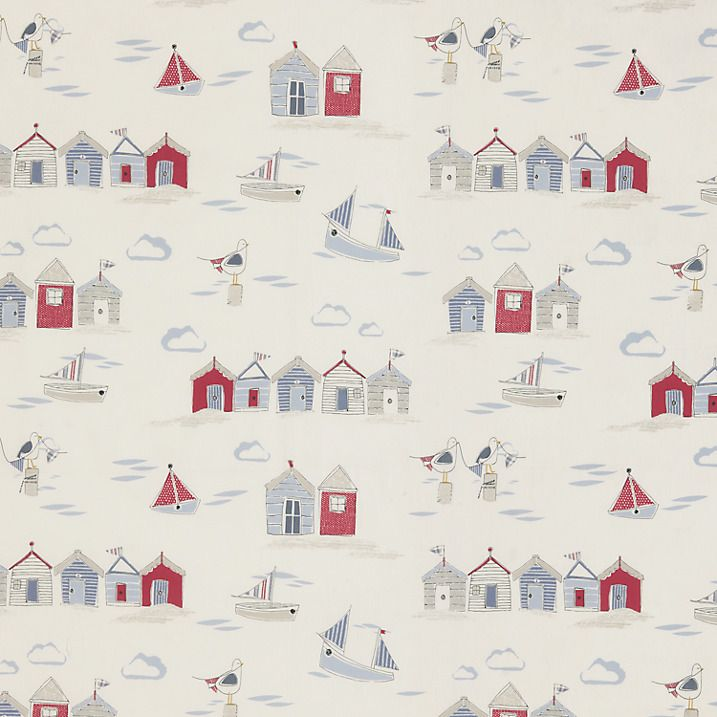 Buy John Lewis Beside The Seaside Furnishing Fabric, Blue Online at johnlewis.com