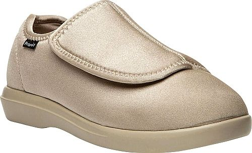 Propet Shoes - Propet's soft stretchable slip-on is specially designed to put tired feet at ease. Soft accommodating stretch neoprene or corduroy fabric upper. - #propetshoes #sandshoes