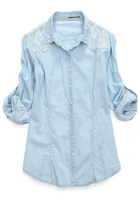Lace + Denim Chambray <3