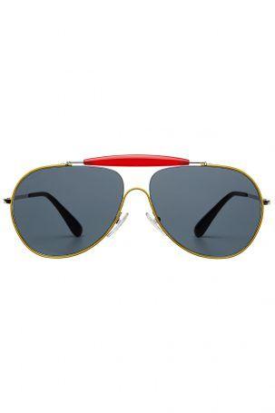 Prada Prada Piloten-Sonnenbrille – Schwarz