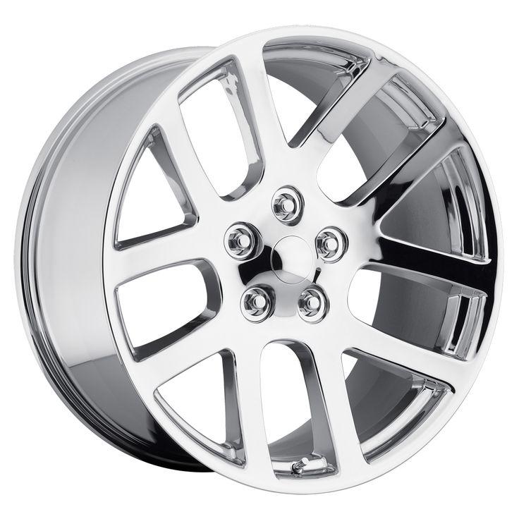 Dodge Ram 1998-2010 22x10 5x5.5  25.4 - SRT10 Replica Wheel -  Polished With Cap