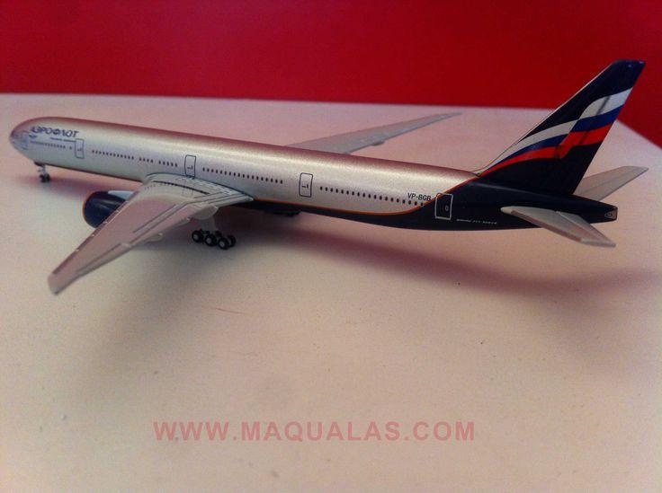 Boeing 777-300ER Aeroflot a escala 1:500 de Herpa