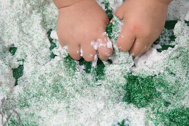 """Soap shavings and glitter are the key ingredients for this sparkle soap """"mud"""" recipe from The Imagination Tree. The best part? No real mud necessary! Pinned by SPD Blogger Network. For more sensory-related pins, see http://pinterest.com/spdbn"""